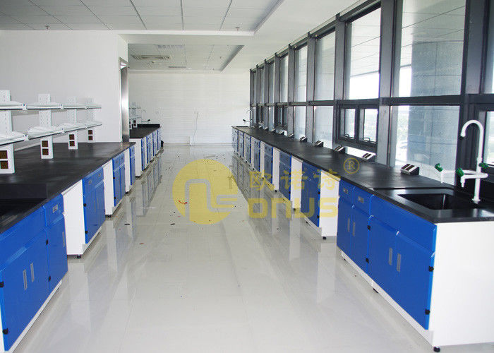 Epoxy Resin Laboratory Worktops Glare / Matte Finish With Reagent Shelf