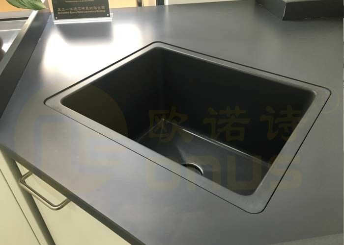 Chemistry Laboratory Drop In Sinks Dark Grey Color Size 415 * 340 * 260mm